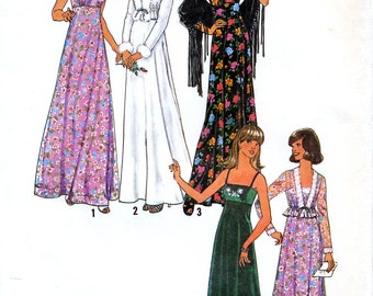 Simplicity 7807 Vintage 70s Misses' Dress and Unlined Jacket Sewing Pattern - Uncut - Size 10 - Bust 32.5