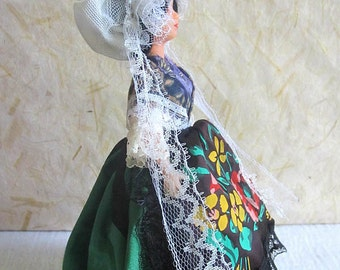 French Vosges costume doll, folk doll, vintage, Petitcollin, vintagefr, france