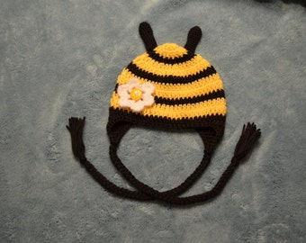 Crochet Bumble Bee Hat for girls