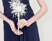 Crystal Snowflake Bridesmaid Bouquet - Winter Wedding - Fabulous Brooch Bouquet Alternative - Small Bridal Bouquet
