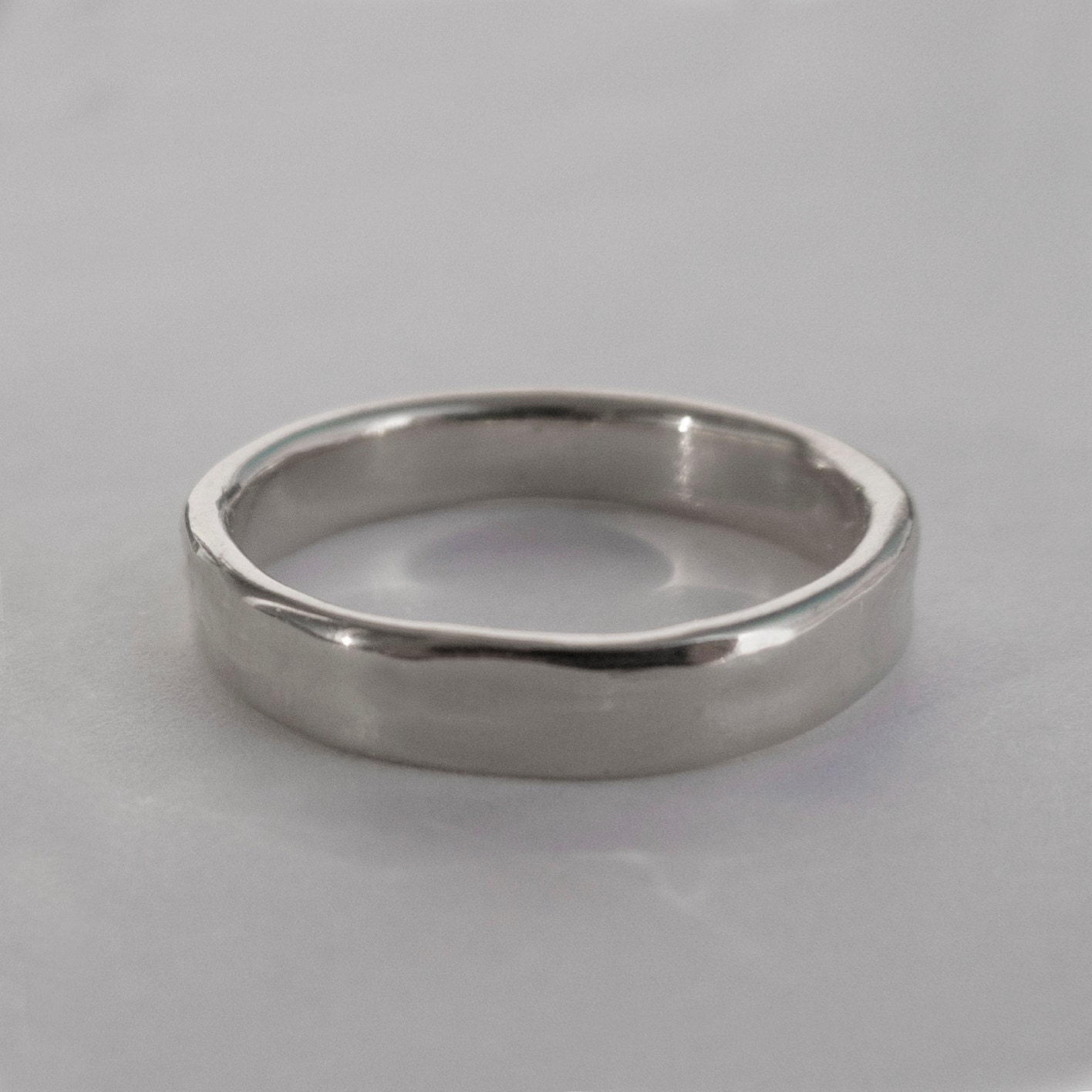 Simple Platinum Wedding Band Platinum Ring by doronmerav ...
