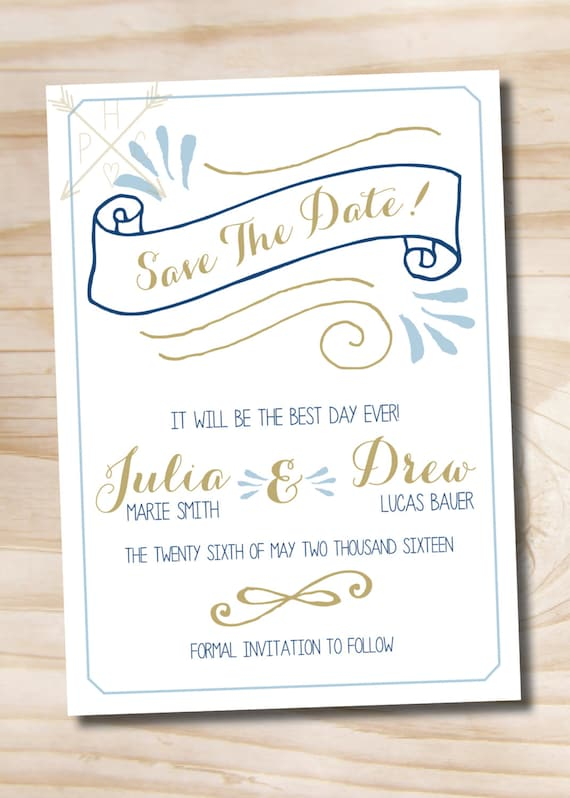Influential image throughout save the date printable