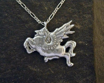 Sterling Silver Original Pegasus Pendant on a Sterling Silver Chain