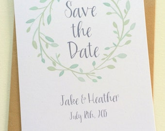 Watercolor Garden Wedding Save the Date cards