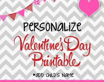 Personalize Valentine Cards