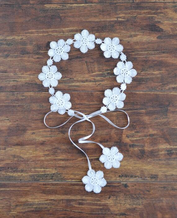Wedding White Flower Crown: Daisy Bridal White Flower Crown Simple Flower Wedding