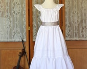 White Heirloom Sundress with Pleats and Lace