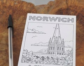 Norwich Cathedral 'A Fine City' postcard
