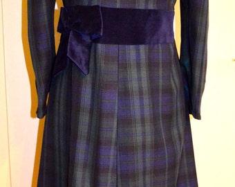 Empire dress 'tartan' (maternity, optional though)