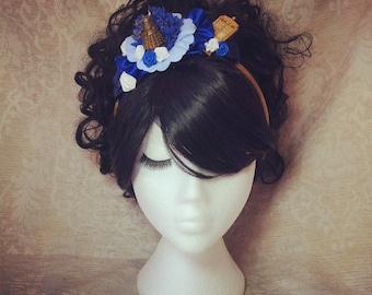 Dr Who Fascinator Headband Dr Who gifts Geek fascinator Burlesque headpiece Pinup hair accessories Rockabilly fascinator Tardis Dalek Fez