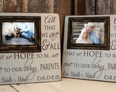 Parents Wedding Gift, Thank You Gift For Parents, Wedding Gift Parents, Personalized Picture Frame 16x16 with 5x7 Frame