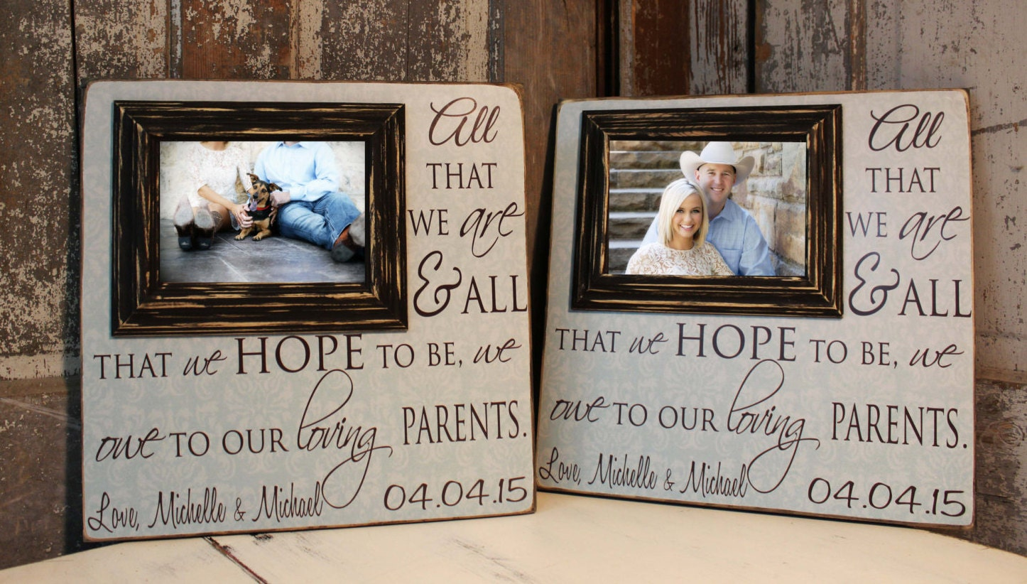 Wedding Thank You Gifts For Parents: Parents Wedding Gift Thank You Gift For Parents By