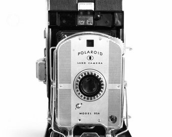 Vintage Camera Print Polariod Land Camera 8x10 Black and White Camera Collection, Wall Art