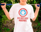 Big  Brother Shirt - American Super Hero  Big  Brother - Distressed Graphic - Pregnancy Announcement - Personalized