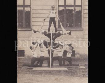 1930s Striking Photo of Human Pyramid / Group Gymnastics part B