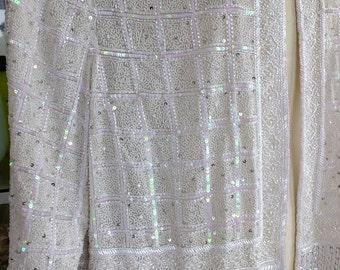 Ivory White beaded wedding jacket coat wedding dress wrap bridesmaids flapper top