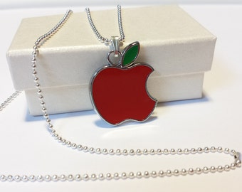 Sale! bitten apple Necklace