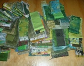 Green Fabric Strips Variety Package FREE SHIPPING