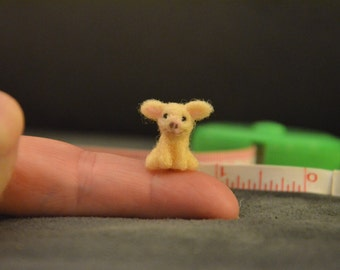 Needle Felted Micro Pig - Great stocking stuffer!