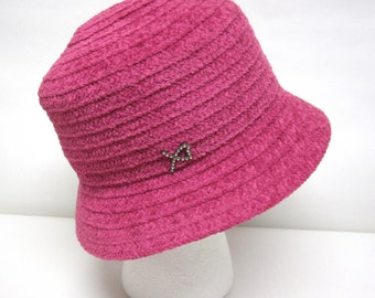 Fuchsia Pink Betmar Hat Cloche Ladies Millinery