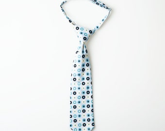 Boys Tie - Light Blue with Dots - Toddler Necktie