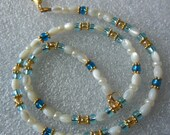 MOP rice on Glass necklace 736