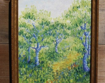 Orchard Path, Original Oil Painting