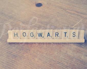 Hogwarts Scrabble Sign   Hogwarts Sign   Harry Potter Sign   Hogwarts Gift   Harry Potter Gift