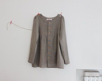 Linen jacket for women, loose fit, 100% linen made in Italy. Gift idea for mom. Sizes S to XL.