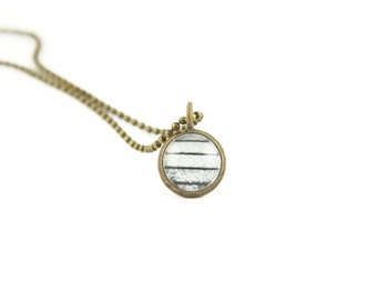 Layering Necklaces, Snow Striped Necklace, Gift for Her, Unique Gifts, Photography Jewelry, Brass Pendant on a Ball Chain