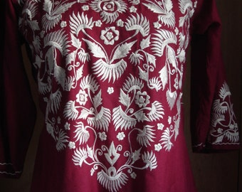 70's Boho Ethnic Embroidered Dress