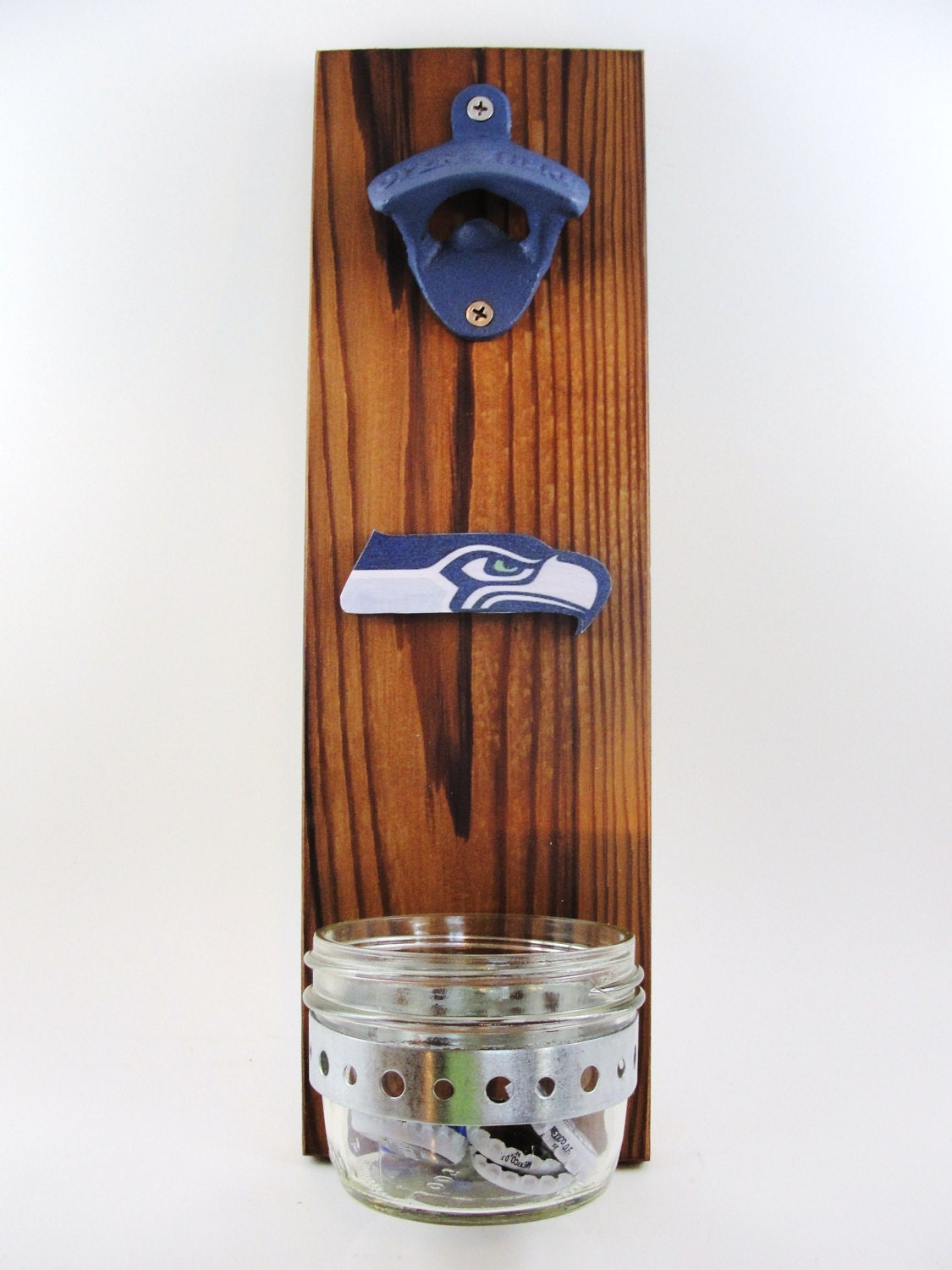 d capsuleur mural mont seattle seahawks cedar receveur de. Black Bedroom Furniture Sets. Home Design Ideas
