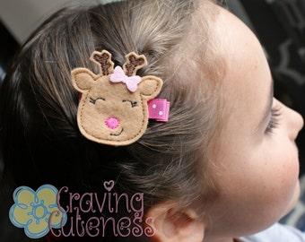 Adorable Reindeer Hair Clip - Meet Miss Raleigh