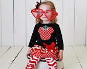 Girls Valentine Mouse Crown Dress Toddlers Valentine Outfit Red Chevron Birthday Dress Baby 6 9 12 18 24 Months Girls 2 3 4 5 6 8