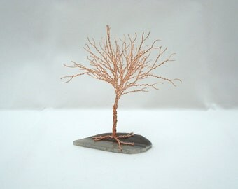 Copper Tree of Life, Tree Sculpture Party Favor, Mini Tree of Life, Wire Wrapped Tree Sculpture