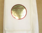 "White Crafter's Pride ""Stitchmate"" Towel"