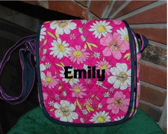SALE 50% off Quilted Pink Floral iPad/Tablet Messenger tote