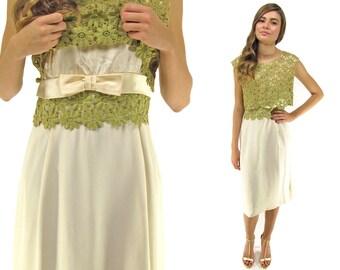 Sale - 60s Crochet Lace Shift Dress, Party Dress, Lace Crochet Dress, Cocktail Dress Δ size: lg