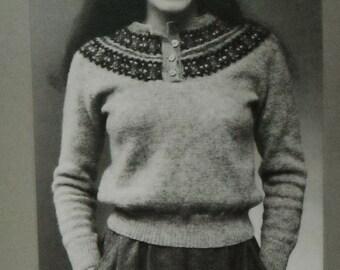 Vintage Straker Design Knitting Pattern, Fair Isle Sweater, Knitting pattern, Straker Original Pattern, Sweater, MacAuslan Pullover, 777- P