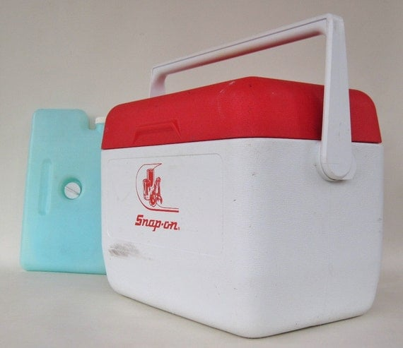 Gott Tote 12 Cooler / 8280 Refreeze Bottle Red & White Snap-On Tools Logo Ice Chest Coolers