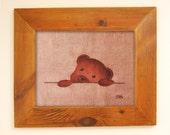 Motif ourson, illustration teddy bear sur textile pour création, patchwork, customisation, relooker, for baby shower