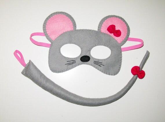 la souris masque queue ensemble pour les enfants 210 ans gris