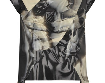 Men's Drape Marble Latex T-Shirt
