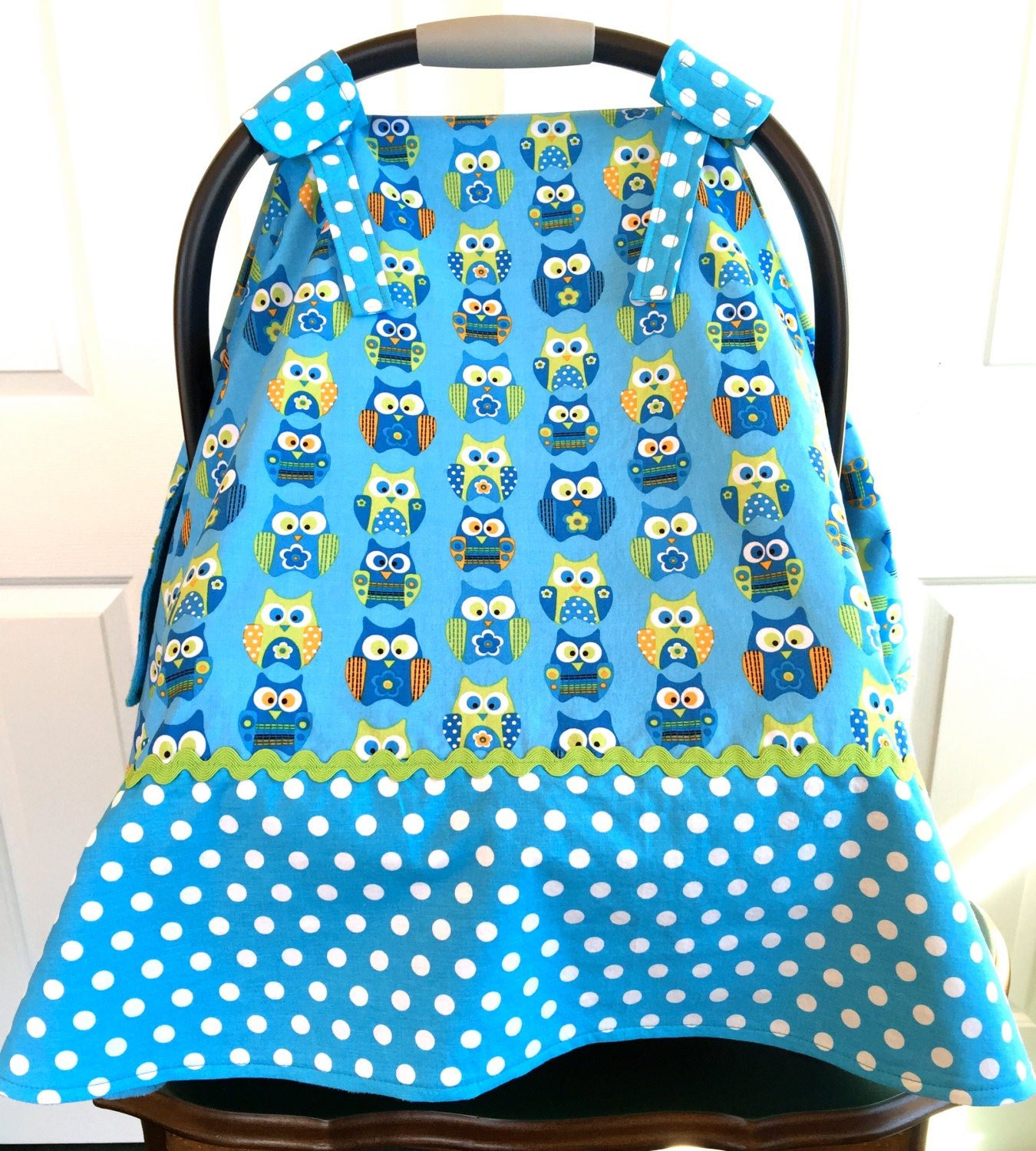 baby boy car seat cover owls blue minky by sweetpeaaprons on etsy. Black Bedroom Furniture Sets. Home Design Ideas
