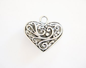 Heart Charms  for your Creations~Pewter Hearts~Heart Pendant~Heart Charms