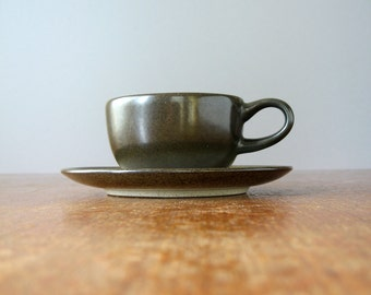 Vintage Heath Ceramics Sea and Sand Cup / Saucer Green