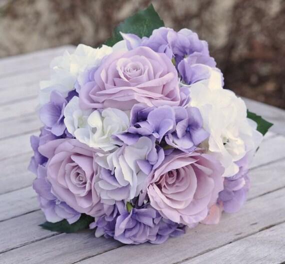 Popolare Bouquet di fiori di seta sposa realizzati con rose della OM85