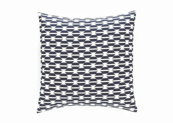 Blue Aztec Throw Pillows : Navy Blue Aztec Decorative Throw Pillow Cover. by thebluebirdshop