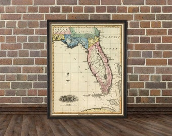 Map of Florida - A wonderful reproduction of Florida map