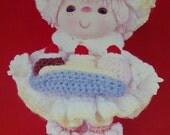 "Instant Download PDF Vintage Eighties 14"" Banana Split Crochet Pattern"